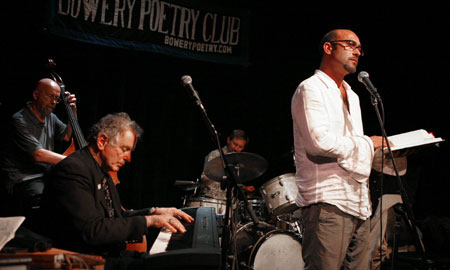 "Click Here To View John Ventimiglia (The Sopranos) with David Amram at The Bowery Poetry Club doing ""I Think Of Neal."""