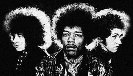 "l-r - Noel Redding, Jimi Hendrix and Mitch Mitchell - In reverence and homage Click Here for James Walck and The m2h Symphonia sonic soundscape, ""Starless."""