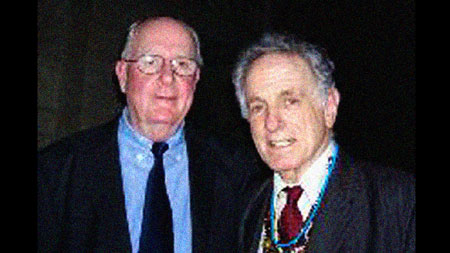 "Author Patrick Fenton and David Amram at the CD Release of ""Jack's Last Call: Say Goodbye to Kerouac."" - Click Here to read Pat's regale, Happy 78th Birthday David Amram!"